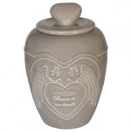 Happy-House Memory Collection Urn - Herdenken - 13.5x13.5x18.5 cm 1 l Beige Small
